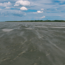 Zandstralen op Schiermonnikoog