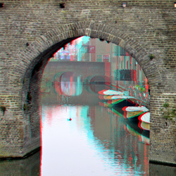 Berkelpoort Zutphen 3D anaglyph