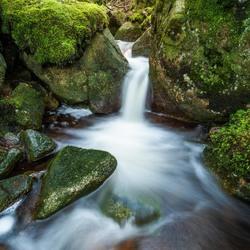 Een klein Noors watervalletje