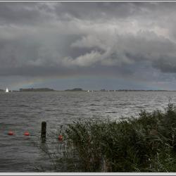 regenboog boven het Hegemer Mar