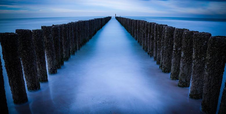 Paalhoofden strand Domburg - Eertse oefening met een big stopper en timer.