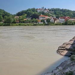 landschap Passau Duitsland.