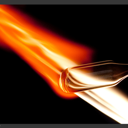 Glass and fire