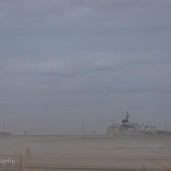 Zandverstuiving op de Maasvlakte