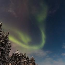 Noorderlicht boven Inari (Finland)