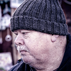 Thick knit hat