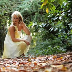 Poseren in het bos