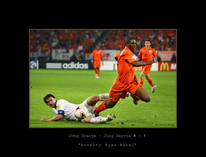 Penalty Ryan Babel - Jong Oranje vs. Jong Servië  4-1 - Het EK in Nederland van Jong Oranje was geweldig om van dichtbij mee te maken. Niet alle wedst
