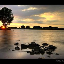 (lek)kere zonsondergang.