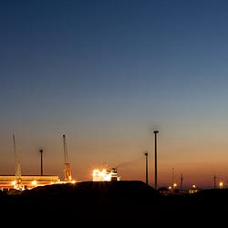 Eemshaven bij nacht 3