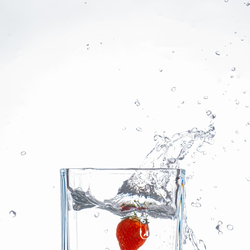 Aardbei splash