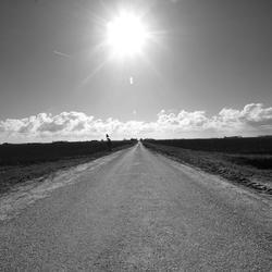 Weg door het vlakke land