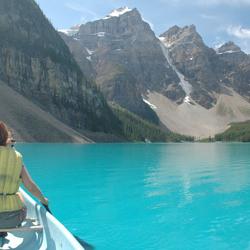 Moraine lake Canada (ja, dit is écht!) geen Photoshopping!