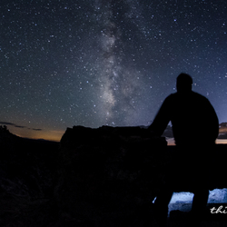 Me, the milky way and the grand canyon