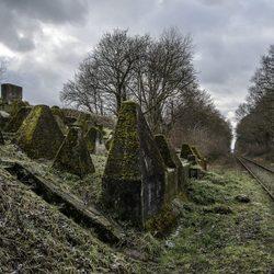 Oude spoorlijn door de Siegfried linie