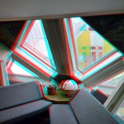 Interieur Kubus-woning Rotterdam 3D