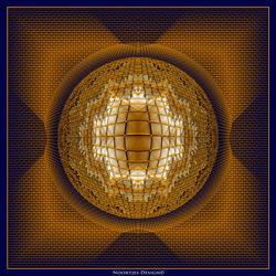 """Abstract """"De gouden kooi"""""""