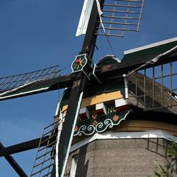 De kap van de 1e molen aan de Rottemeren