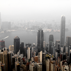 Hong Kong view from Victoria's Peak