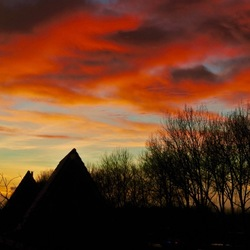 Sunset in Delft..