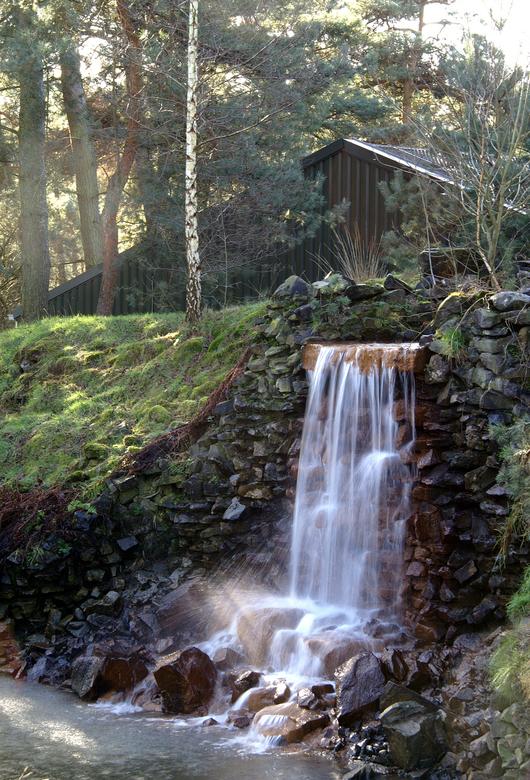 Stroming - Een waterval in Safaripark Beekse Bergen.