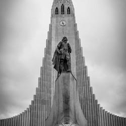 De kerk en de fiets