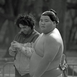 Sumo runner in Central Park