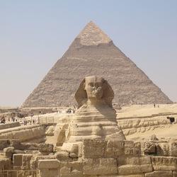 Sfinx en Pyramide Gizeh