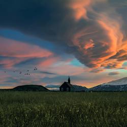 Zonsondergang bij Budir