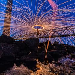 Steelwool spinning