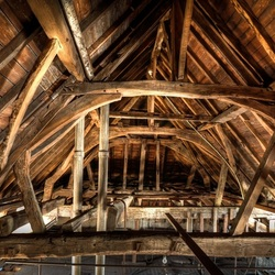 Eeuwen oude dakconstructie, St. Anna klooster.