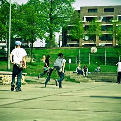 lomo skatekids in het park