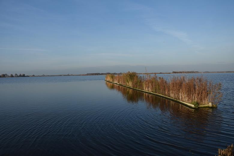 Afzetting in natuurgebied ´t Zwet - Deze foto is genomen op een windstille middag in november. Er is geprobeerd om met behulp van een filter en een la