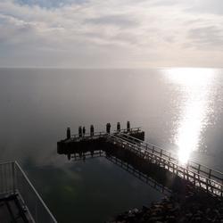 Zonsondergang op de afsluitdijk
