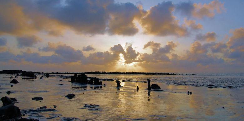 het wad - de waddenzee bij harlingen tijdens eb