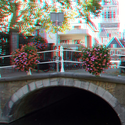 Delft in anaglyph