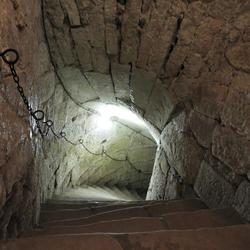 Eeuwen oude trap