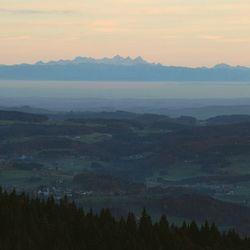 Zicht op de Alpen..