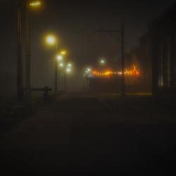 Mistige avond