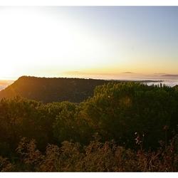 zonsondergang in Vejer de la Fronteira