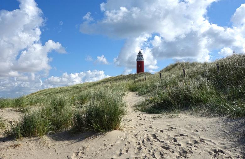 Vuurtoren op Texel - Foto gemaakt van de vuurtoren op Texel. De vuurtoren Eierland staat op het noordelijkste punt van het eiland Texel, aan de Vuurto