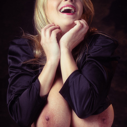 busty girl laughing