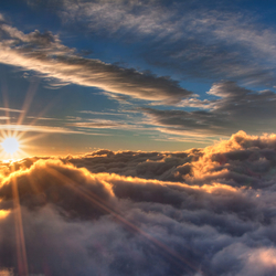 Sunrise above the clouds!