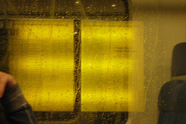 dry - droog in de trein naar Almere