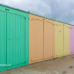 Strandhuisjes op strand Domburg