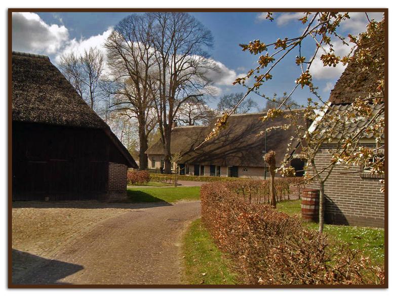 Lente in Drenthe... - Een lenteplaatje uit het pitoreske Balloo. (Dr.) Dit dorpje lijkt a.h.w. één openluchtmuseum. Heel veel oude gebouwen zijn, gelu