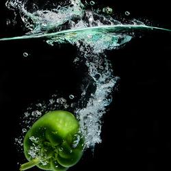 vrij werk 2 paprika groen