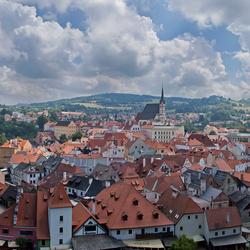 panorama Cesky Krumlov (Tsjechie)