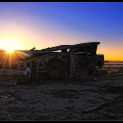 Urbex desert car