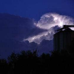 Onweer in Uithuizen